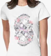 Queen of Roses Womens Fitted T-Shirt