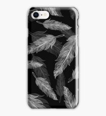 Black and white feathers pattern  iPhone Case/Skin
