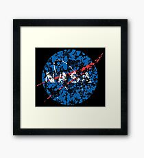 Nasa distressed logo Framed Print