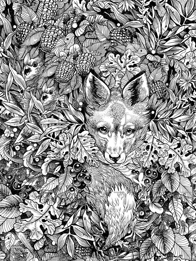 Hiding fox by saraknid