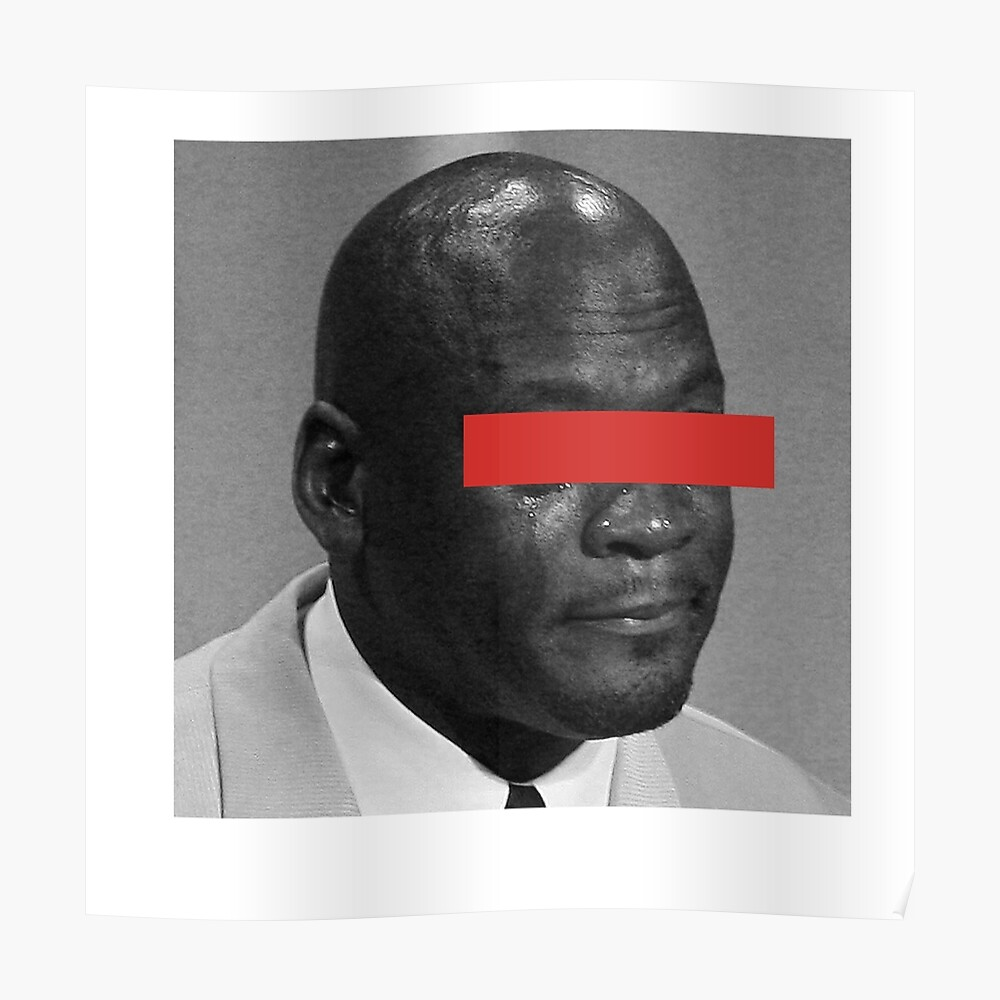 MJ Crying Meme - Rote Augen Poster