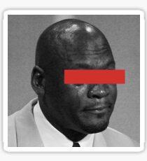 MJ Crying Meme - Red Eyes Sticker