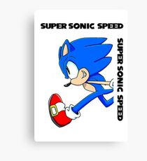 Super Sonic Speed Canvas Print