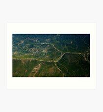 Aerial Landscape Mountain Fine Art Photography 0024 Art Print