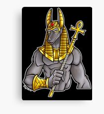 Anubis Egyptian God  Canvas Print