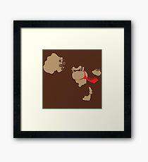 Donkey Kong Pixel Silhouette Framed Print