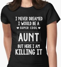 Super Cool Aunt Women's Fitted T-Shirt