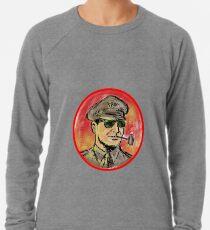World War II General Corn Cob Pipe Watercolor Lightweight Sweatshirt