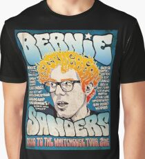 Bernie Sanders Road To The Whitehouse Tour 2016 Graphic T-Shirt