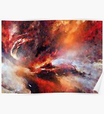 Genesis Abstract Expressionism Art Poster