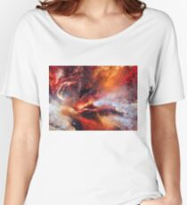 Genesis Abstract Expressionism Art Women's Relaxed Fit T-Shirt