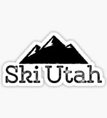 Ski Utah Vintage Mountain Design Sticker