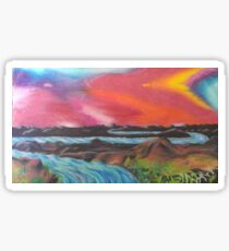 Tranquil Sunset Over Water Sticker