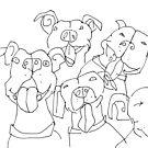 happy staffies by Matt Mawson