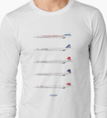 Concorde 1969 To 2003 Long Sleeve T-Shirt
