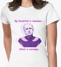 """""""Was für eine Ersparnis."""" Tailliertes T-Shirt"""