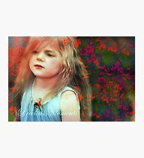 Precious Moments Of Innocence Photographic Print