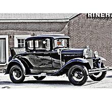 Old Black Car Photographic Print
