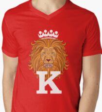 Lion Head Men's V-Neck T-Shirt