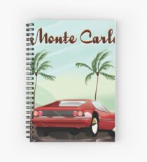 Monte Carlo sports car travel poster Spiral Notebook