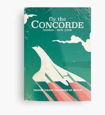 Lienzo metálico Cartel Concorde Vintage Holiday