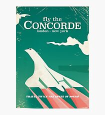 Concorde Vintage Holiday poster  Photographic Print