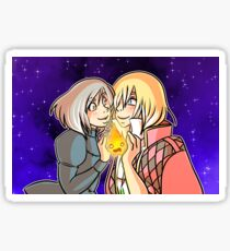 Howl, Sophie, and Calcifer Sticker