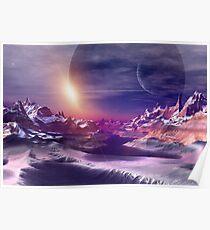 Alien Planet - Fantasy Landscape Poster