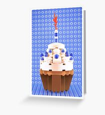 Cupcake Blue Greeting Card