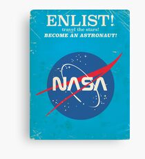 Enlist to become an Astronaut! Vintage nasa poster Canvas Print