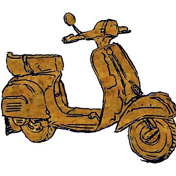 Rusty Vespa Scooter Piaggio by rooosterboy
