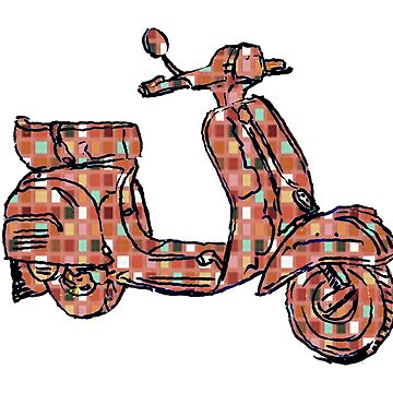 Vespa Piaggio Bajaj Scooter plaid by rooosterboy