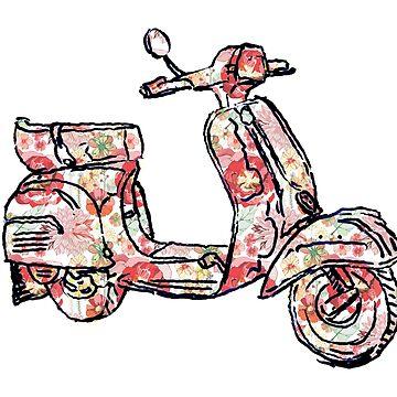 Vespa Piaggio Bajaj Scooter rosy by rooosterboy