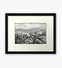 Across the continent, Westward the course of empire takes its way - 1868 Framed Print
