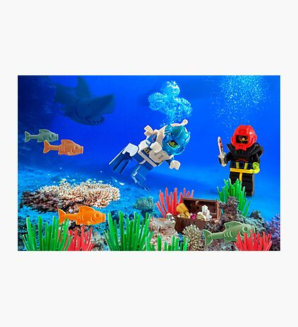 Scuba Divers Photographic Print