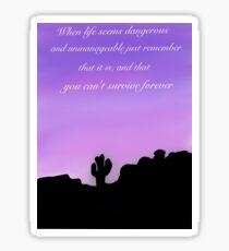 Purple sky  Sticker
