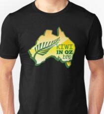 KIWI in OZ BRO! (Australia) Aussie map T-Shirt