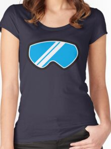 Winter SNOW Goggles  Women's Fitted Scoop T-Shirt