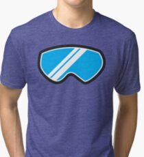 Winter SNOW Goggles  Tri-blend T-Shirt