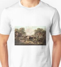 American farm life - Currier & Ives - 1868 Unisex T-Shirt