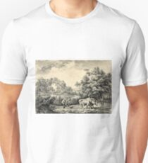 American farm scenes No. 1 - Currier & Ives - 1853 Unisex T-Shirt