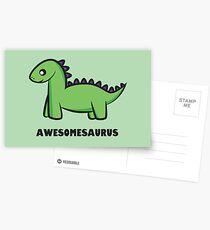 Awesomesaurus (green) Postcards