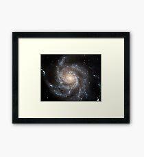 Spiral galaxy Messier 101. Framed Print
