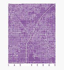 Las Vegas map lilac Photographic Print
