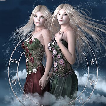 Gemini zodiac fantasy circle by BrittaGlodde