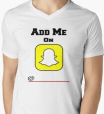 Add Me On SnapChat! Draw Your Own Name! T-Shirt