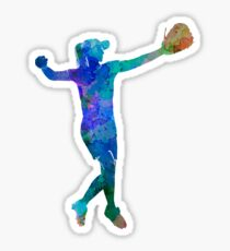 woman playing softball 02 Sticker
