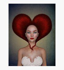 Queen of hearts portrait Photographic Print