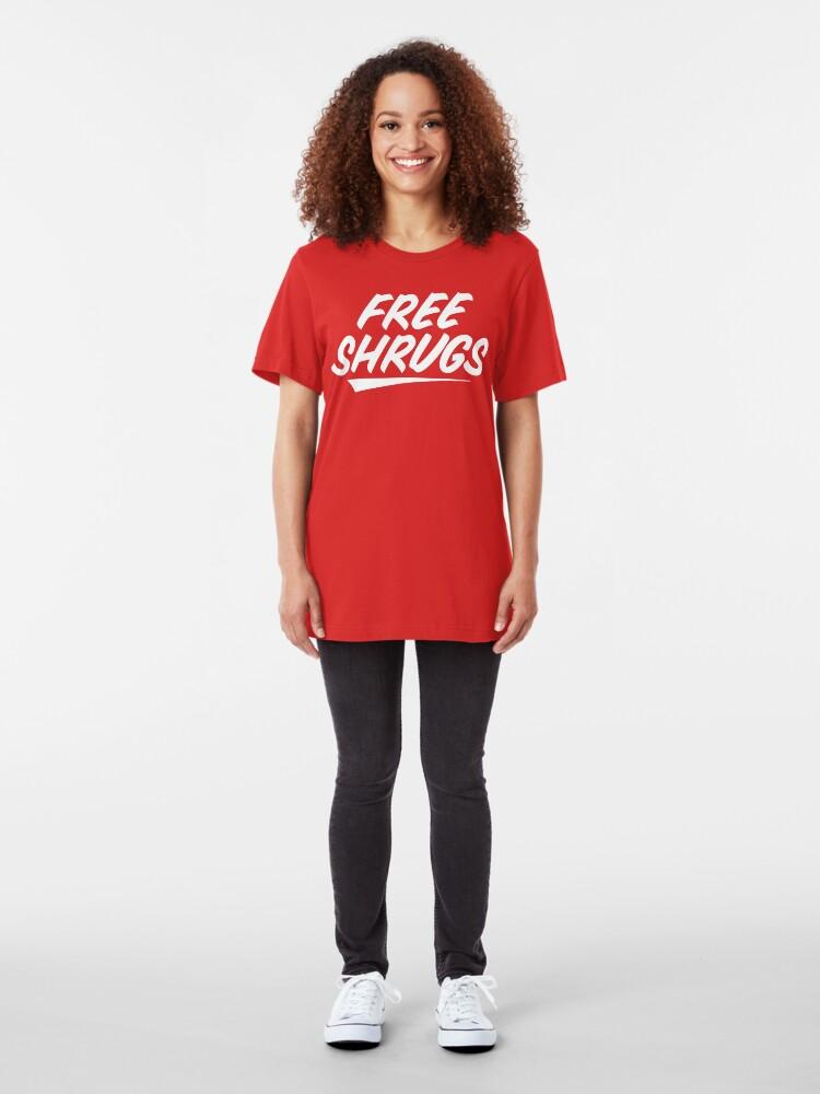 Alternate view of Free Shrugs Slim Fit T-Shirt