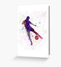man soccer football player 02 Greeting Card